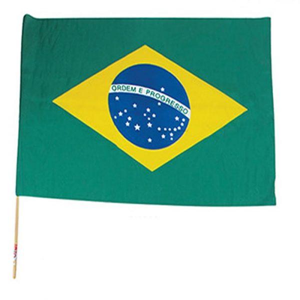 BANDEIRA DO BRASIL COM CABO DE MADEIRA