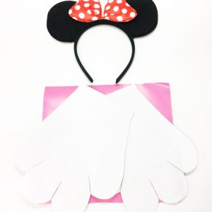 KIT MINNIE TIARA E LUVAS