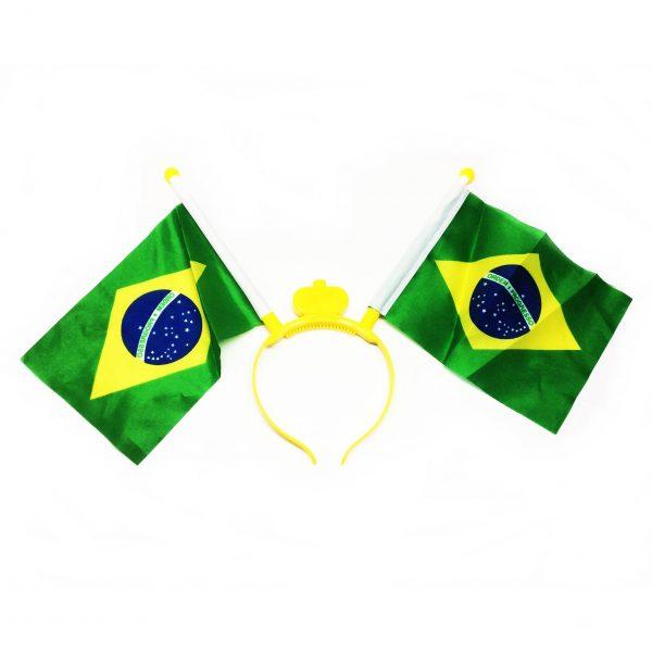 TIARA LED COM BANDEIRAS DO BRASIL