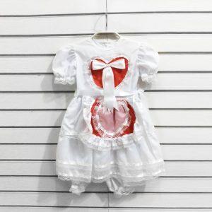 VESTIDO DE NOIVA CAIPIRA COM CORAÇÃO INFANTIL