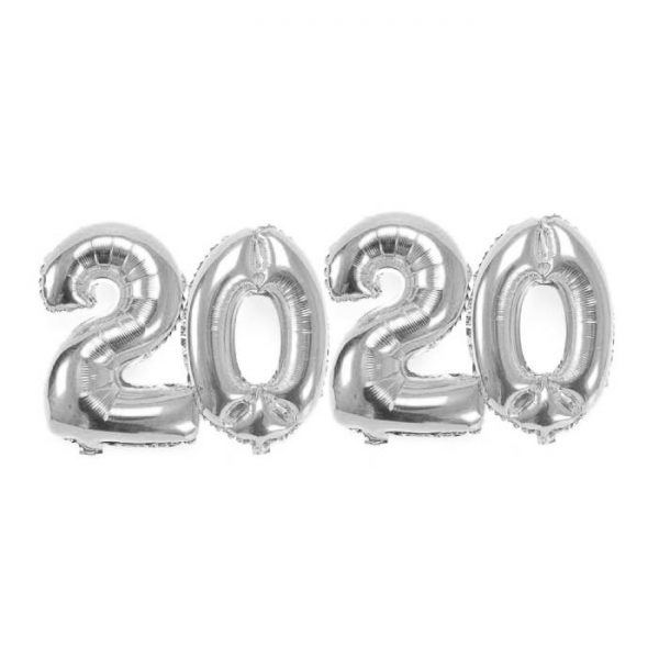 KIT BALÕES 2020 PRATA 1m*