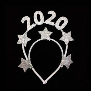 TIARA 2020 BRILHANTE PRATA COM ESTRELAS