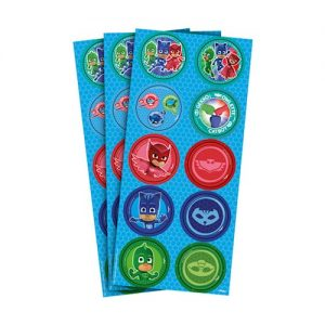 ADESIVOS REDONDOS DO PJMASKS 30x