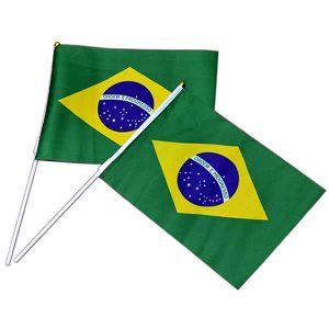 PACOTE BANDEIRAS DO BRASIL COM CABO 28X20cm