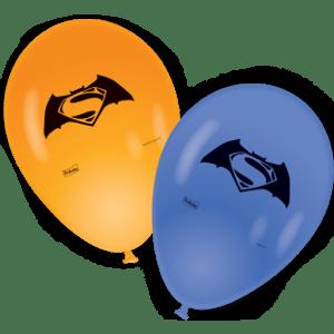 """BALÃO LÁTEX BATMAN VS SUPERMAN 9"""" 25x"""