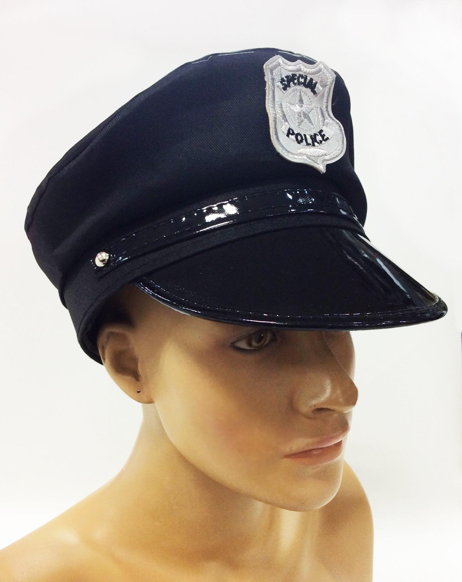 QUEPE POLICIAL COM EMBLEMA BORDADO