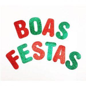 "LETRAS ""BOAS FESTAS"" EVA BRILHANTE"