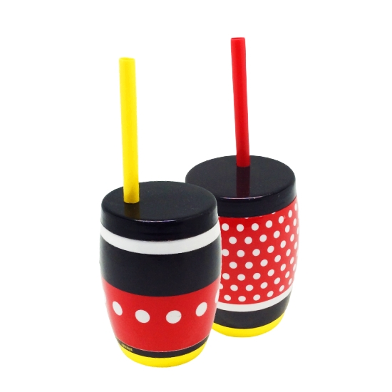 COPO COM TAMPA E CANUDO MICKEY/MINNIE 300ml