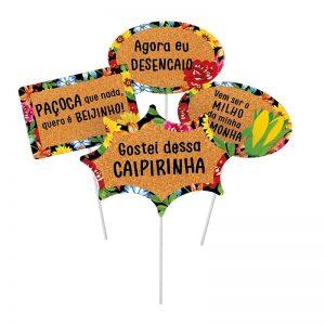 PLAQUINHAS DIVERTIDAS FESTA JUNINA