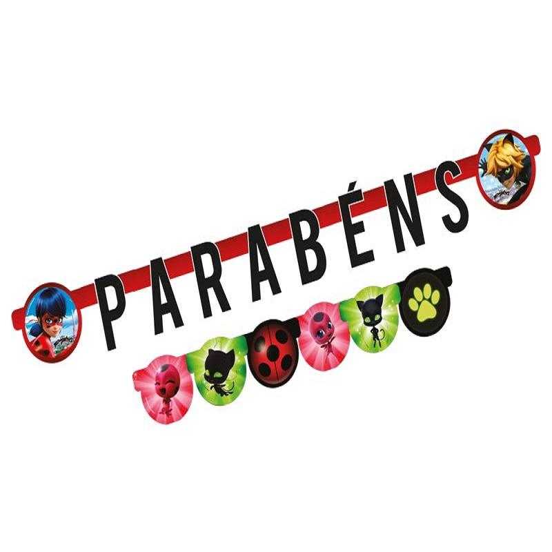 "FAIXA ""PARABÉNS"" MIRACULOUS"