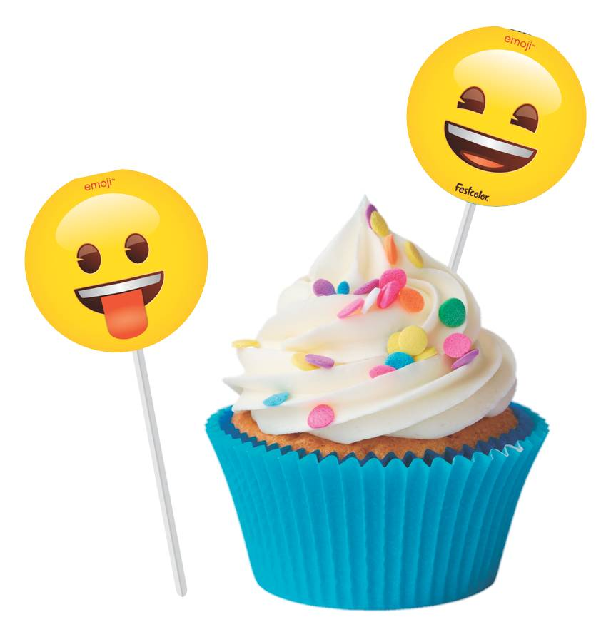 TOPPERS PARA DOCES EMOJI