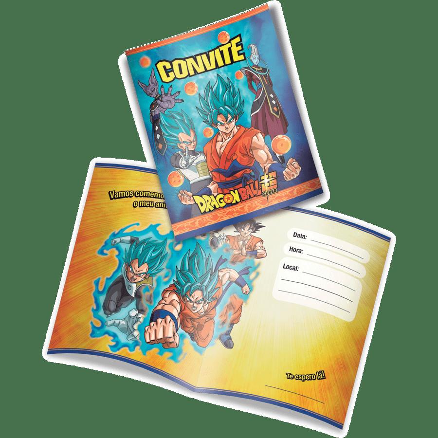 CONVITE DRAGON BALL 8x