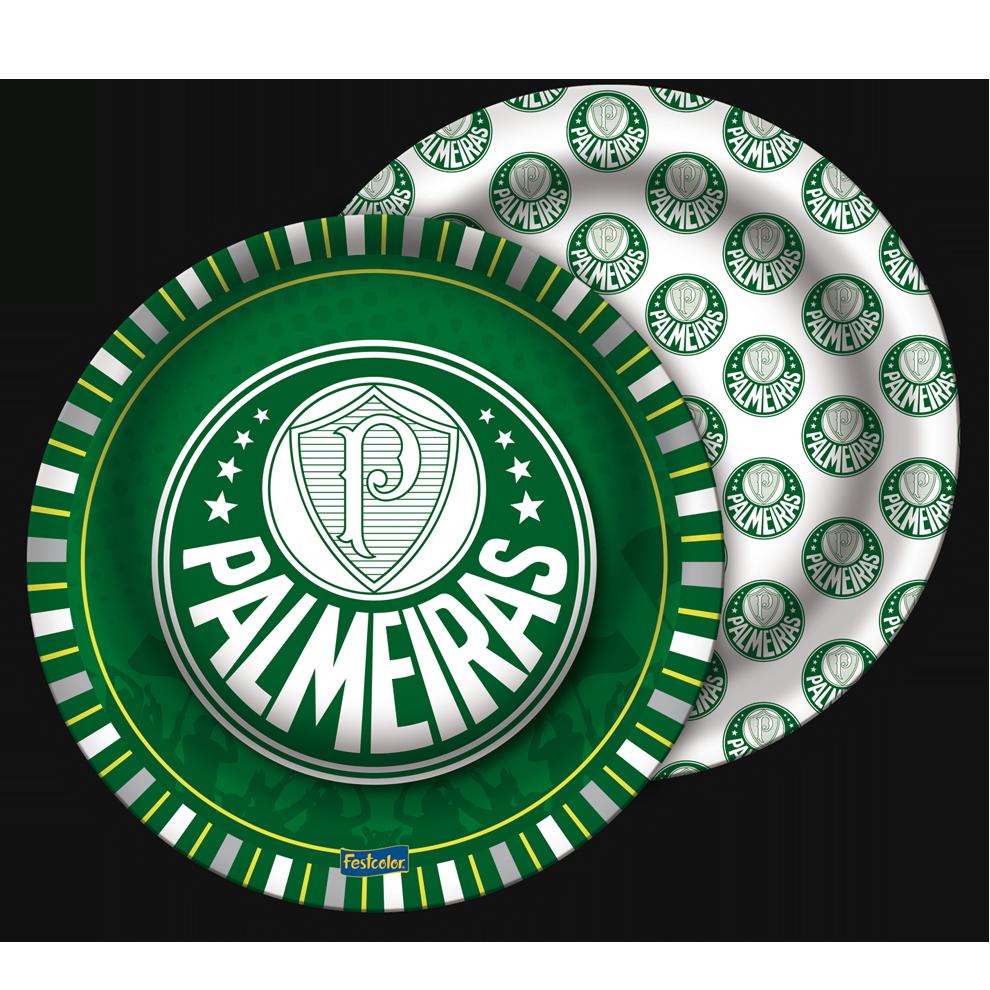 PRATO DESCARTÁVEL PALMEIRAS 8X