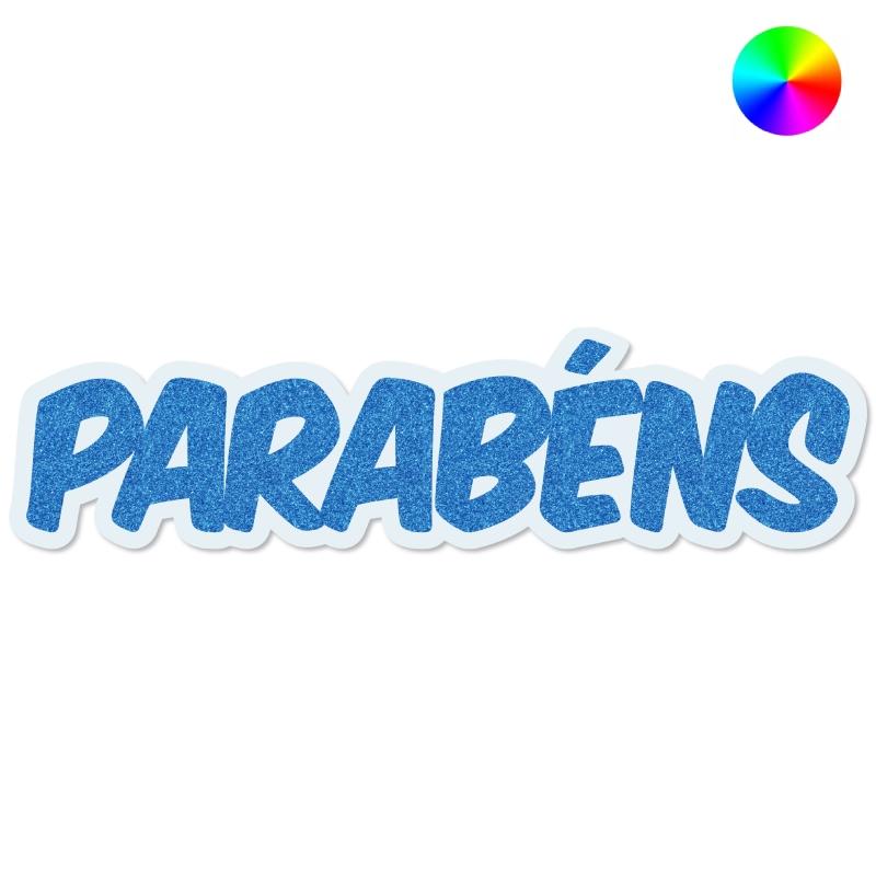 "FAIXA ""PARABÉNS"" COM GLITTER"