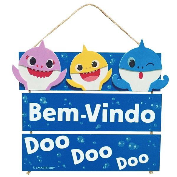 PLACA BEM-VINDO BABY SHARK DOO DOO DOO