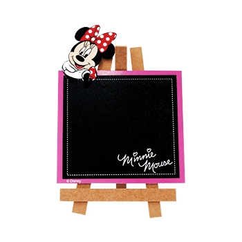 PLACA CAVALETE MINNIE MOUSE