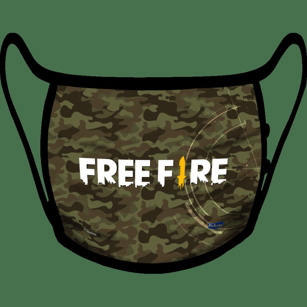 MÁSCARA DE PROTEÇÃO INFANTIL FREE FIRE