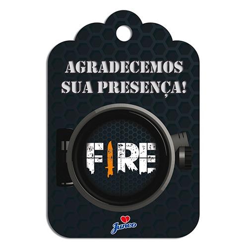 TAG DE AGRADECIMENTO FIRE 8X