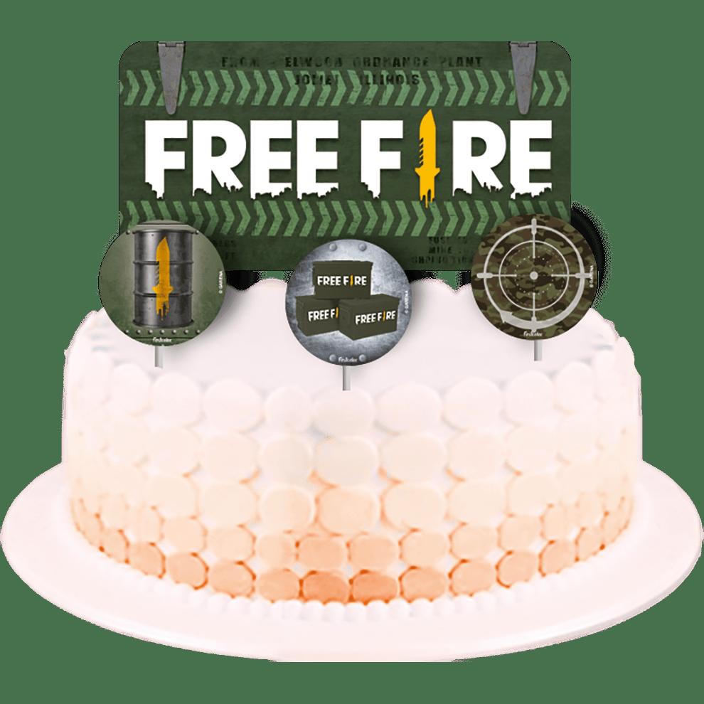 TOPPER DE BOLO FREE FIRE